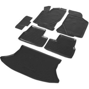 Комплект ковриков салона и багажника Rival для Lada Granta I рестайлинг хэтчбек (2018-н.в.), полиуретан, K16002002-1