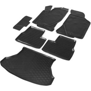 Комплект ковриков салона и багажника Rival для Lada Granta I рестайлинг универсал (2018-н.в.), полиуретан, K16002004-1