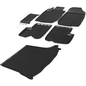 Комплект ковриков салона и багажника Rival для Lada Largus универсал, универсал Cross (5 мест) (2012-н.в.), полиуретан, K16003001-2
