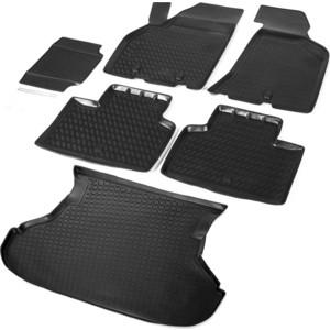 цена на Комплект ковриков салона и багажника Rival для Lada Priora седан (2007-2018), полиуретан, K16004002-1