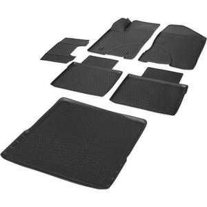 Комплект ковриков салона и багажника Rival для Lada Vesta универсал, универсал Cross (багажник с фальш полом) (2017-н.в.), полиуретан, K16006001-3