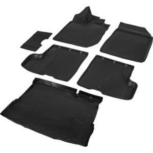 Комплект ковриков салона и багажника Rival для Lada Xray HB, HB Cross (без полки и с пластик.накладкой в проеме багажника, без вещ.ящика в салоне) (2016-н.в.), K16007005-4 фото