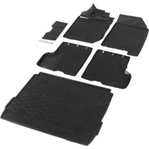Комплект ковриков салона и багажника Rival для Lada Xray хэтчбек, хэтчбек Cross (c полкой в багажнике, с вещевым ящиком в салоне) (2016-н.в.), полиуретан, K16007001-3