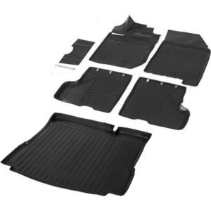 Комплект ковриков салона и багажника Rival для Lada Xray HB, HB Cross (без полки и пластик.накладки в проеме багажника, с вещ.ящиком в салоне) (2016-н.в.), K16007001-2
