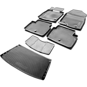 Комплект ковриков салона и багажника Rival для Mazda 3 ВМ хэтчбек (2013-2018), полиуретан, K13801006-1