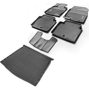 Комплект ковриков салона и багажника Rival для Mazda 6 GJ седан (2012-2018 / 2018-н.в.), полиуретан, K13802001-3