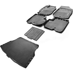Комплект ковриков салона и багажника Rival для Nissan Almera G15 седан (2013-2018), полиуретан, K14101001-2