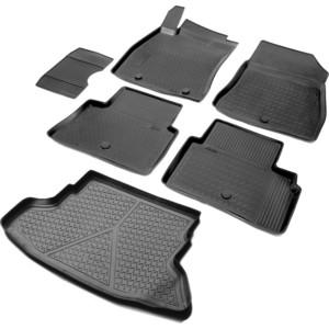Комплект ковриков салона и багажника Rival для Nissan Juke 5-дв. (2010-2014), полиуретан, K14102004-2