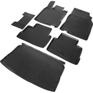 Комплект ковриков салона и багажника Rival для Nissan Qashqai II 5-дв. (кроме Российской сборки) (2014-2015), полиуретан, K14105002-1