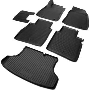 Комплект ковриков салона и багажника Rival для Nissan Sentra B17 седан (2014-2016), полиуретан, K14106002-1