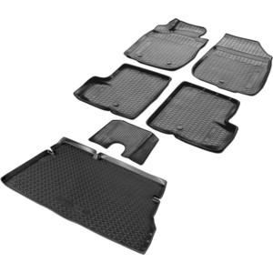 Комплект ковриков салона и багажника Rival для Nissan Terrano III 5-дв. (2WD) (2014-2016), полиуретан, K14108003-2