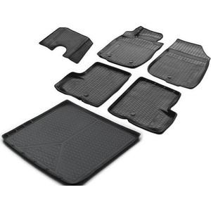 Комплект ковриков салона и багажника Rival для Nissan Terrano III 5-дв. (4WD) (2014-2017), полиуретан, K14108001-4