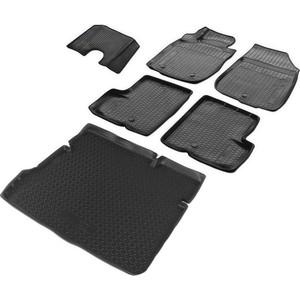 Комплект ковриков салона и багажника Rival для Nissan Terrano III 5-дв. (2WD) (2016-2017), полиуретан, K14108001-3