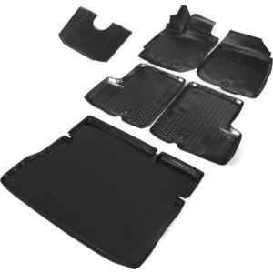 Комплект ковриков салона и багажника Rival для Nissan Terrano III 5-дв. (2WD) (2017-н.в.), полиуретан, K14701007-3