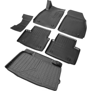 Комплект ковриков салона и багажника Rival для Opel Insignia I седан (багажник без органайзера) (2008-2017), полиуретан, K14204003-1 фото