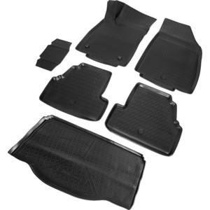 Комплект ковриков салона и багажника Rival для Opel Mokka 5-дв. (2012-2016), полиуретан, K14206002-1