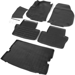 Комплект ковриков салона и багажника Rival для Opel Zafira Family C (2011-2016), полиуретан, K14207004-1