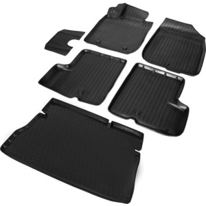 Комплект ковриков салона и багажника Rival для Renault Duster 5-дв. (2WD) (2010-2015), полиуретан, K14701002-1 5 pieces lot g4435ss sop8