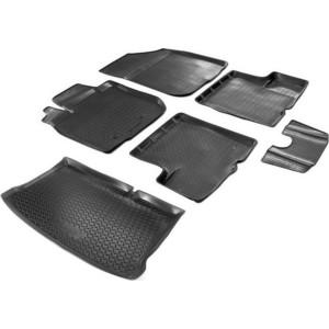 Комплект ковриков салона и багажника Rival для Renault Sandero II (2014-2018 / 2018-н.в.), полиуретан, K14703003-2