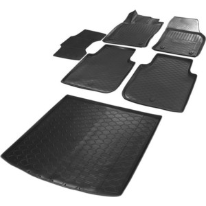 Комплект ковриков салона и багажника Rival для Skoda Kodiaq 5-дв. (5 мест) (2017-н.в.), полиуретан, K15105001-2