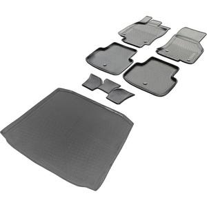 Комплект ковриков салона и багажника Rival для Skoda Octavia A7 лифтбек (2013-2017 / 2017-н.в.), полиуретан, K15101001-4 все цены
