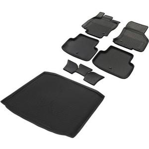 Комплект ковриков салона и багажника Rival для Skoda Octavia A7 универсал (2013-2017 / 2017-н.в.), полиуретан, K15101001-5