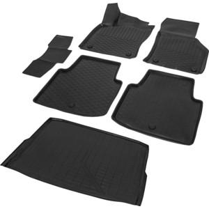 Комплект ковриков салона и багажника Rival для Skoda Superb B8 седан (2015-н.в.), полиуретан, K15104003-2