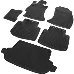 Комплект ковриков салона и багажника Rival для Subaru Forester IV (2012-2018), полиуретан, K15401002-1