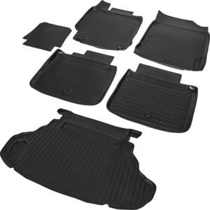 Комплект ковриков салона и багажника Rival для Toyota Camry XV50 рестайлинг седан (кроме Prestige и Lux) (2014-2018), полиуретан, K15701003-2