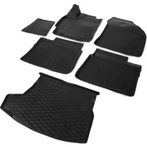 Комплект ковриков салона и багажника Rival для Toyota Corolla E160 седан (2013-2019), полиуретан, K15702003-1