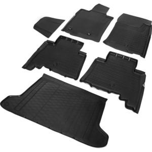 Комплект ковриков салона и багажника Rival для Toyota Land Cruiser Prado 150 5-дв. (5 мест) (2009-2017), полиуретан, K15704002-1