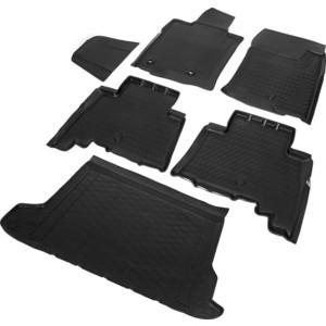 Комплект ковриков салона и багажника Rival для Toyota Land Cruiser Prado 150 рестайлинг 5-дв. (5 мест) (2017-н.в.), полиуретан, K15704003-1