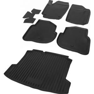 Комплект ковриков салона и багажника Rival для Volkswagen Polo V седан (2010-2015 /2015-н.в.), полиуретан, K15804003-2
