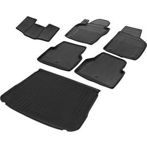 Комплект ковриков салона и багажника Rival для Volkswagen Tiguan I рестайлинг 5-дв. (2011-2017), полиуретан, K15805001-3