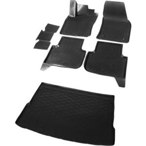 Комплект ковриков салона и багажника Rival для Volkswagen Tiguan II 5-дв. (ровный пол багажника) (2016-н.в.), полиуретан, K15805006-5