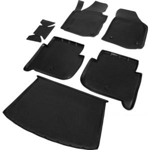 Комплект ковриков салона и багажника Rival для Volkswagen Touran II компактвэн (2010-2015), полиуретан, K15806003-1