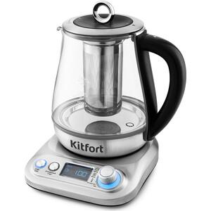 Чайник электрический KITFORT KT-646 чайник электрический kitfort kt 609 серебристый черный