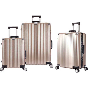 Комплект чемоданов LCASE Dubai champangne УХ-909