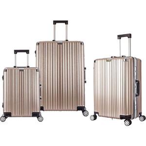 Комплект чемоданов L'CASE Abu Dhabi champangne PT-909 abu telfan