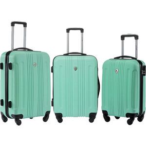 Комплект чемоданов L'CASE Bangkok Light green с расширением dvicio bangkok