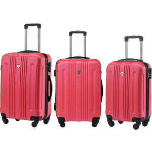 Комплект чемоданов LCASE Bangkok Peach pink