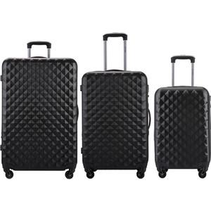 Комплект чемоданов LCASE Phatthaya Black с расширением