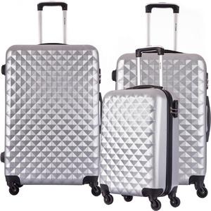Комплект чемоданов LCASE Phatthaya Gray с расширением