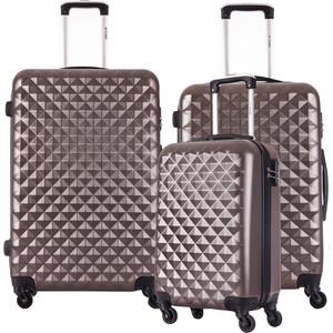 Комплект чемоданов LCASE Phatthaya Coffee с расширением