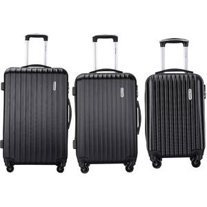 Комплект чемоданов LCASE Krabi Black с расширением
