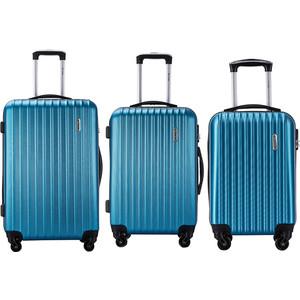 Комплект чемоданов LCASE Krabi Blue с расширением