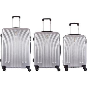Комплект чемоданов LCASE Phuket Gray с расширением