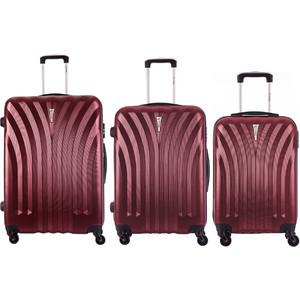 Комплект чемоданов LCASE Phuket Red wine с расширением