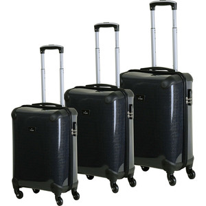 Комплект чемоданов LCASE Paris K05 SHINY Black