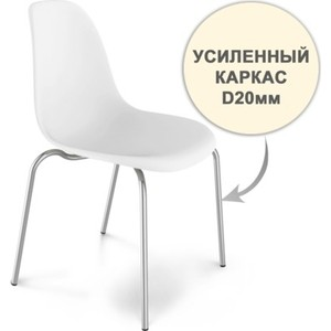 Стул Sheffilton SHT-S30 HD белый / хром лак